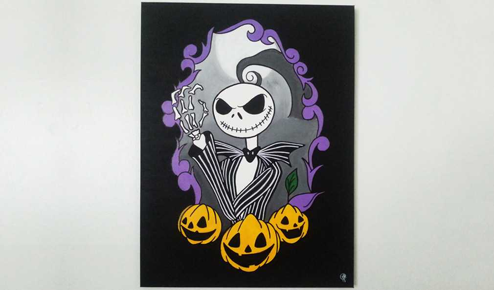 Nightmare Before Christmas Canvas