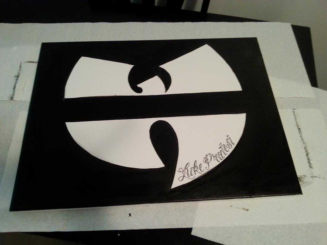 Drawn Out & Reverse Painted Logo
