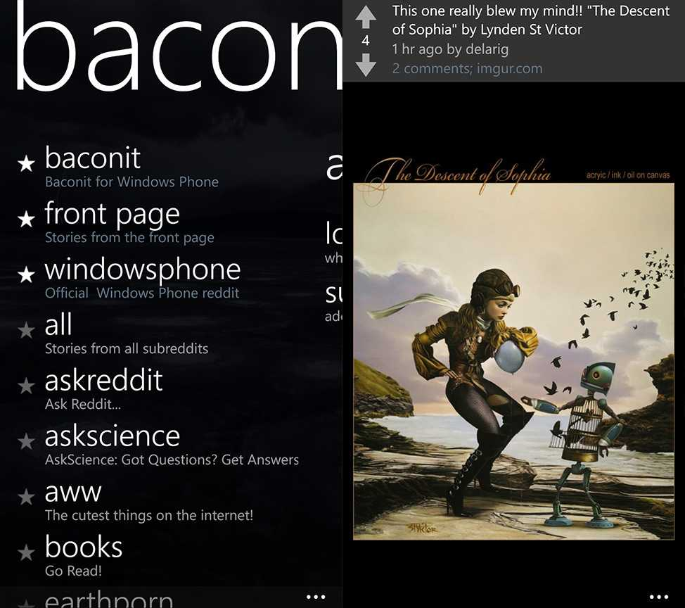 Baconit Windows Phone App