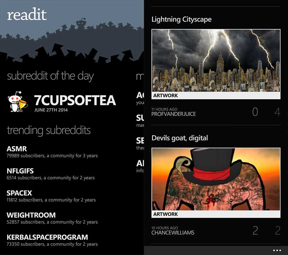Readit Windows Phone App