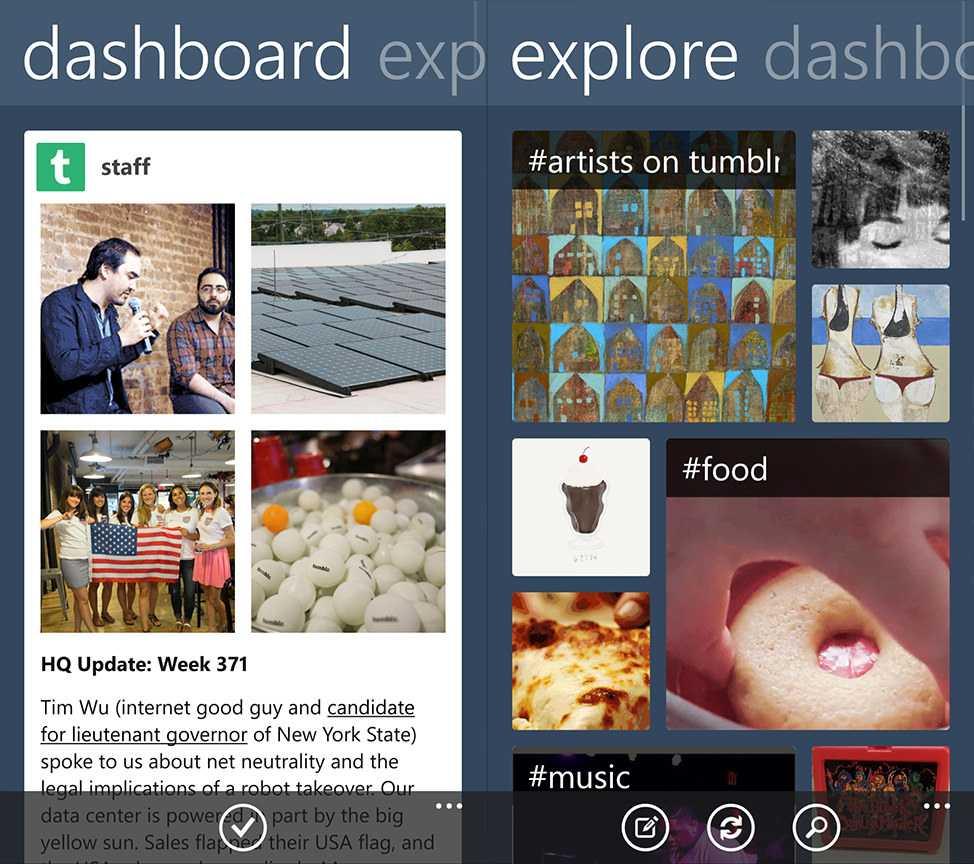 Tumblr Windows Phone App