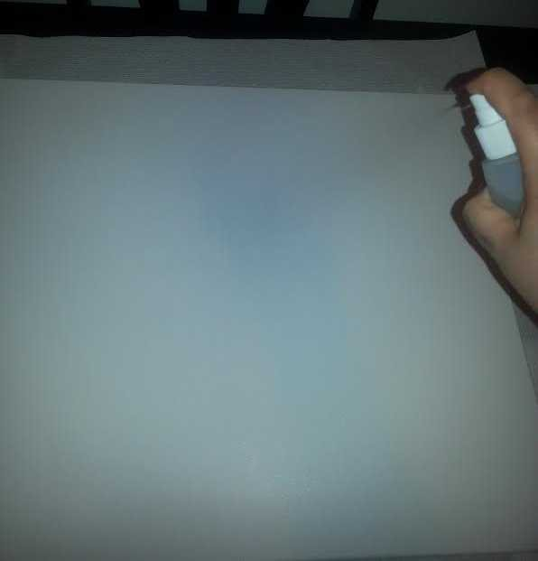 Spraying Water on the Canvas