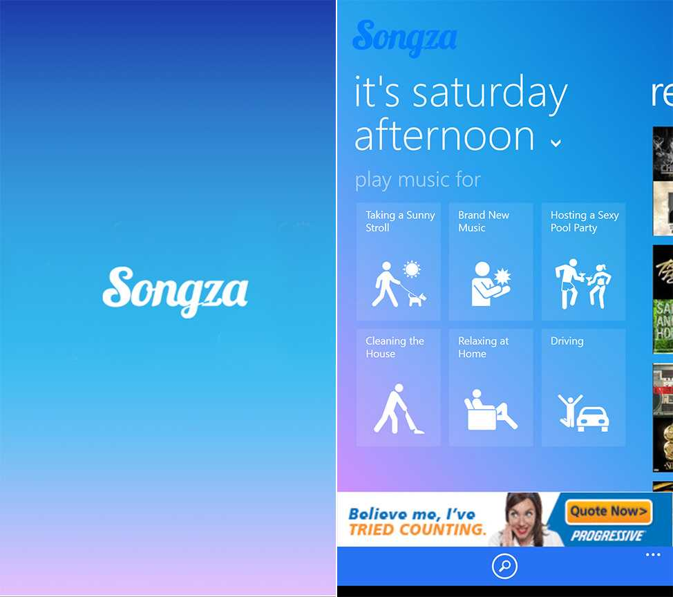 Songza Music Steaming Service