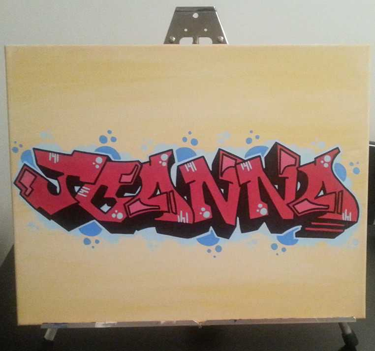 Color Blended Graffiti Tag Canvas - Almost