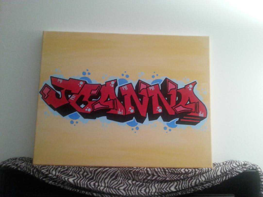 finishedColor Blended Graffiti Tag Canvas - Finished