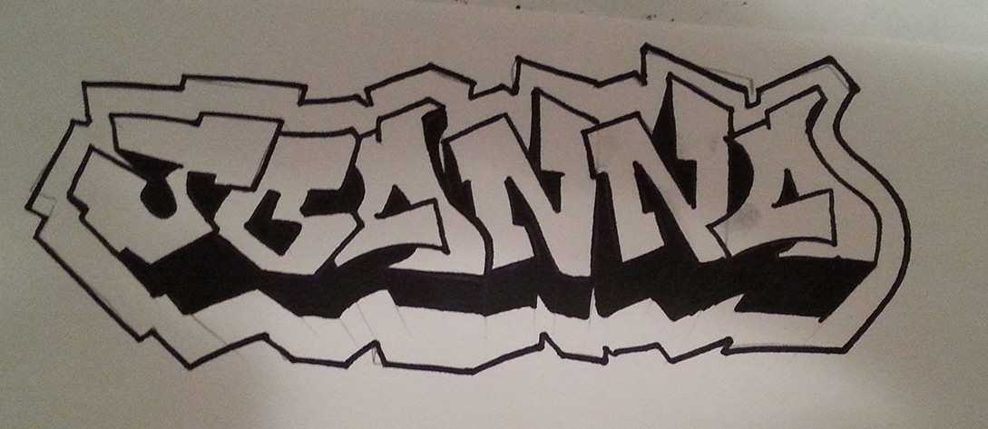Color Blended Graffiti Tag Canvas - Preview