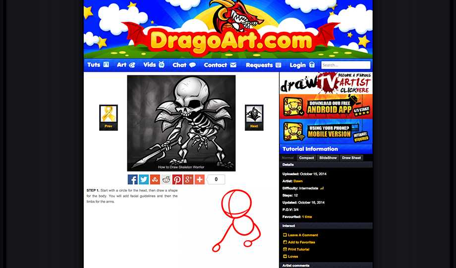 10 Free Tutorial Websites To Learn Art: Dragoart