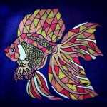 Tanya Gaisano Lee Animal Pen Art Pieces: Goldfish
