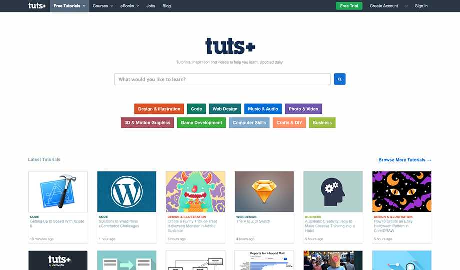10 Free Tutorial Websites To Learn Art: Tuts+