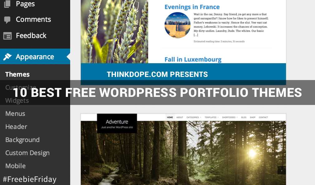 10 Best Free WordPress Portfolio Themes [Freebie Friday]