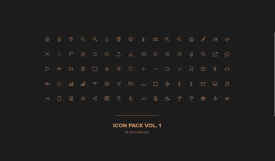 10 Best Free Stroke Icon Sets - 80 Stroke Icons