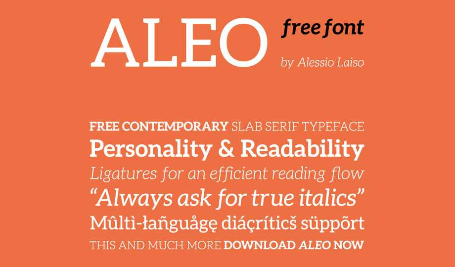 10 Best Free Serif Fonts - Aleo
