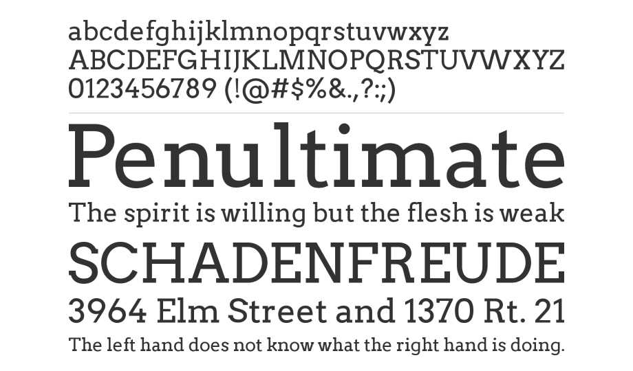 10 Best Free Serif Fonts - Arvo