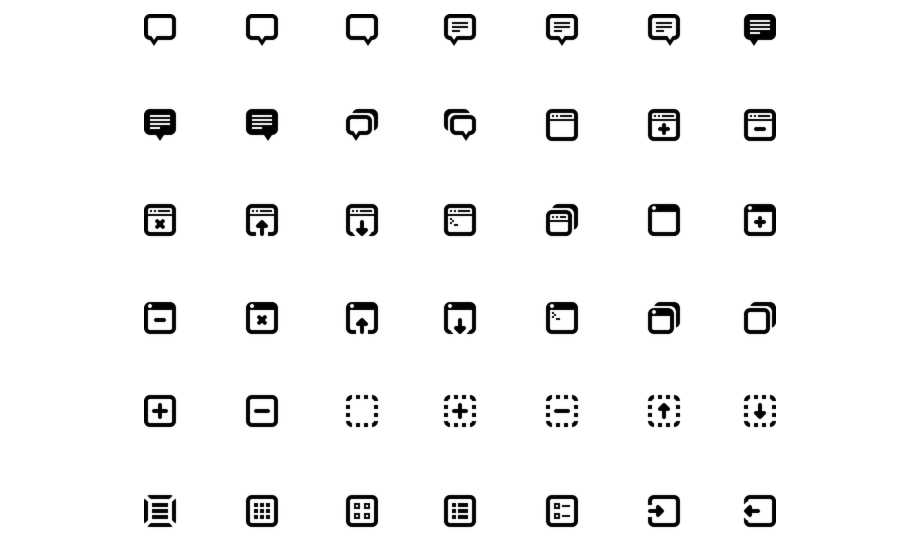 10 Best Free Stroke Icon Sets - Batch Icons