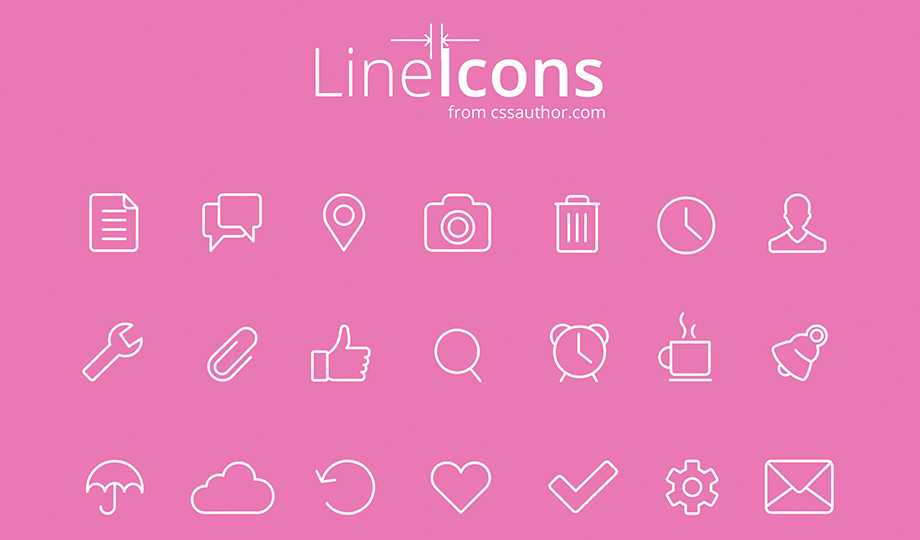 10 Best Free Stroke Icon Sets - Line Icons