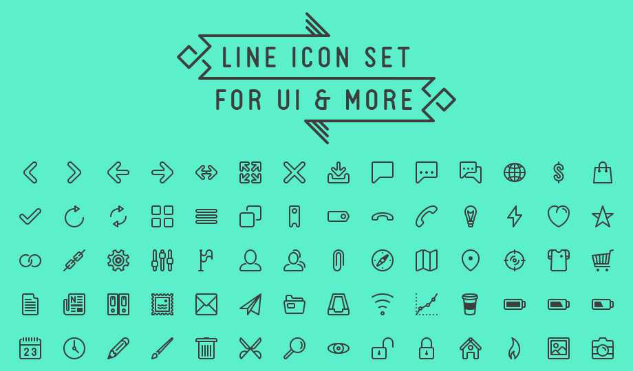 10 Best Free Stroke Icon Sets - Line Icon UI Set For UI