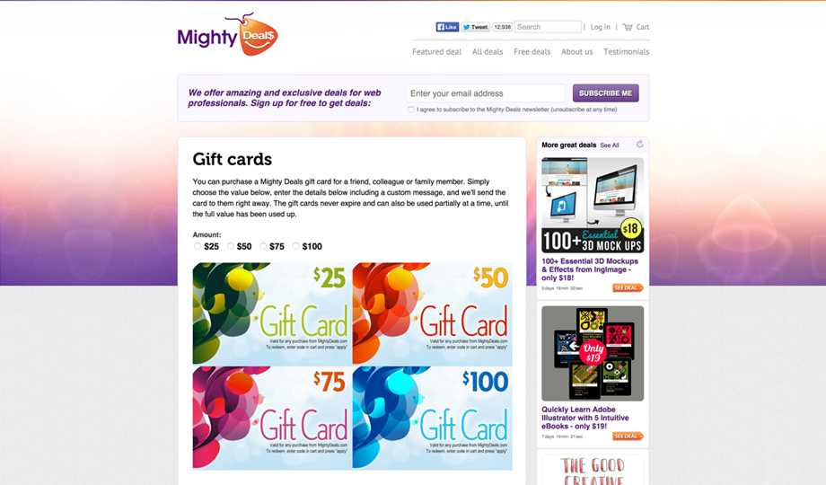 Gift Ideas For The Graphic Designer -  Mighty Deals Gift Card