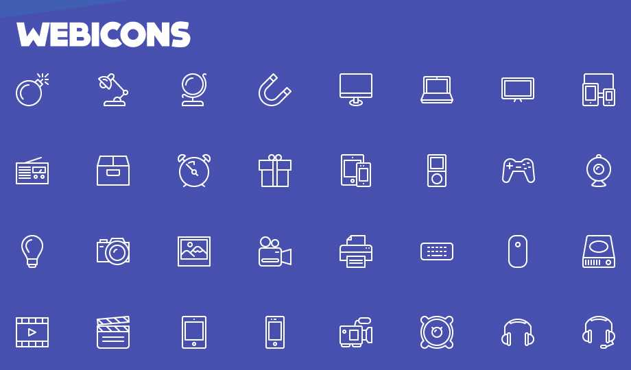 10 Best Free Stroke Icon Sets - Webicons