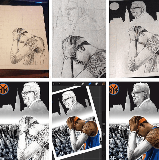 How To Create A New York Knicks NBA Poster - Picture 3
