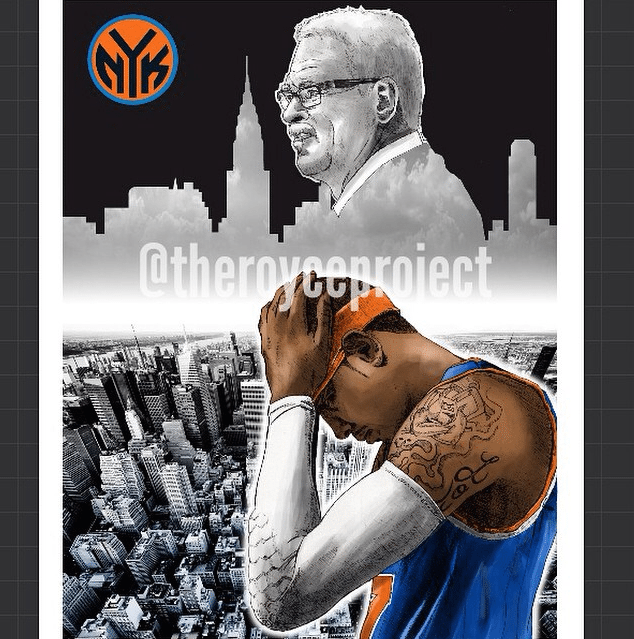 How To Create A New York Knicks NBA Poster - Picture 4
