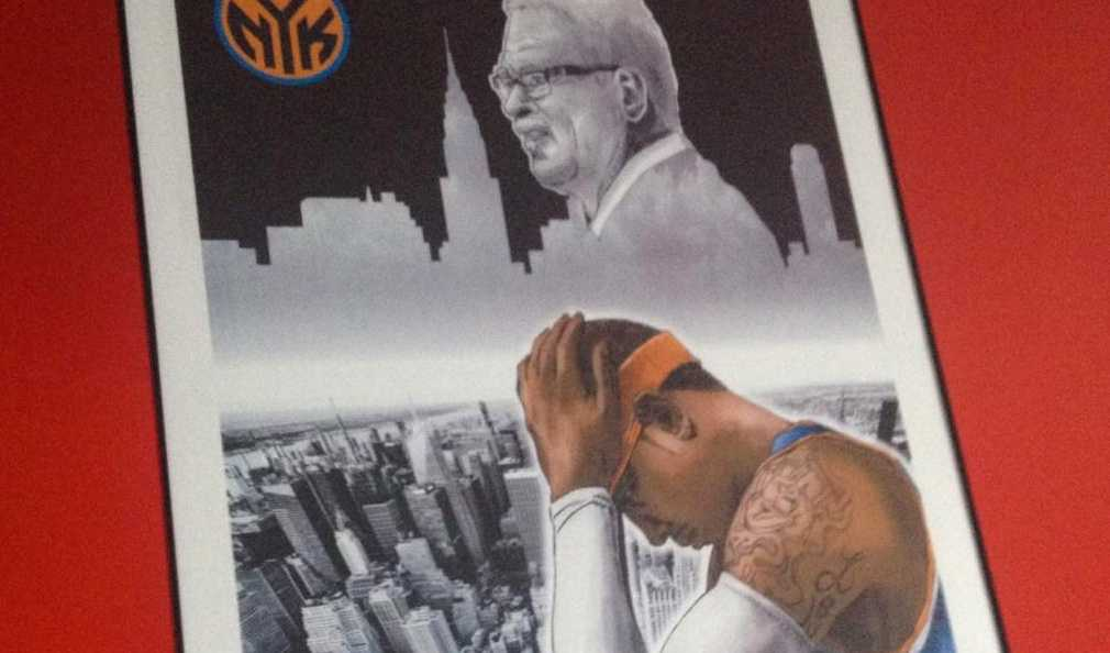 How To Create A New York Knicks NBA Poster