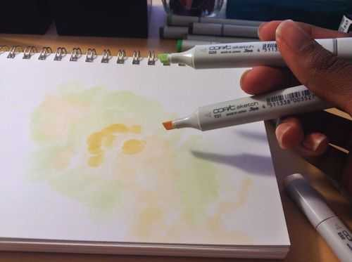 How To Create a Space Nebula Effect with Markers - 3