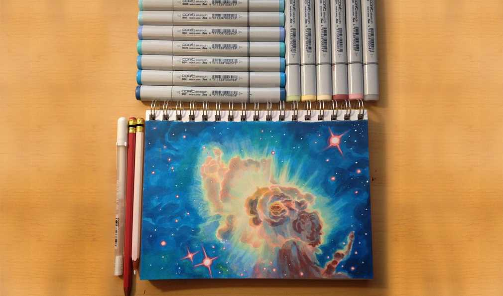 How To Create a Space Nebula Effect with Markers [Guest Post]